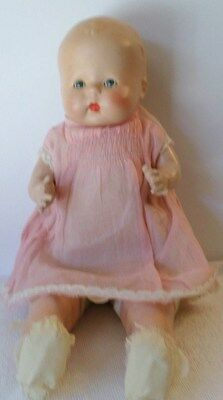 """ANTIQUE COMPOSITION BABY DOLL """"BUTTERCUP""""* MARKED HORSMAN*SWEET SLEEP EYES*RARE"""