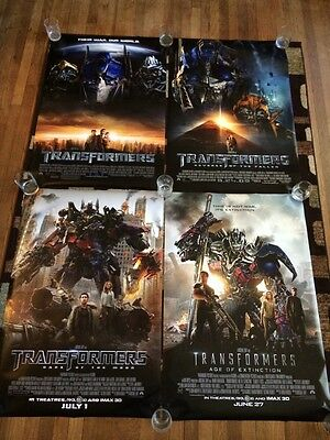 Transformers Original Movie Poster 27x40 Double Sided Lot Of 4 All Films!