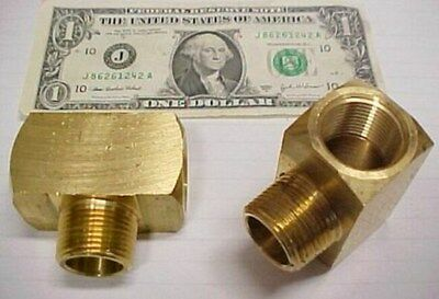 """Lot of 2 Big Solid Brass ¾"""" NPT NPTF Branch Tees Fuel Fittings Plumbing Pipe New"""