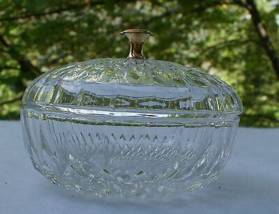 Vintage Val St Lambert Candy Dish with Lid