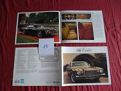 15/   catalogue english text CHRYSLER Cordoba 1976