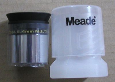 NEW 6.4mm Meade Series 4000 Super Plossl telescope eyepiece