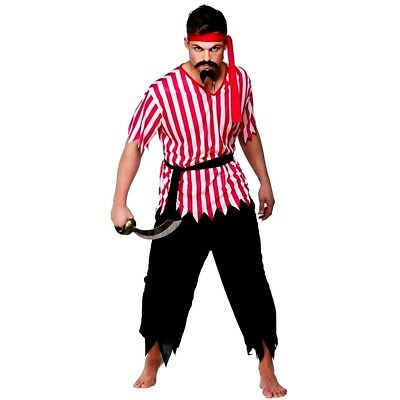 Adult SHIPMATE PIRATE Caribbean Buccaneer Male Mens Fancy Dress Costume Outfit