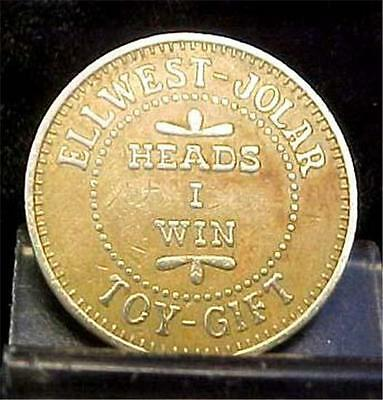 Heads Or Tails-Ellwest Jolar Amusement Ctr Token-8856