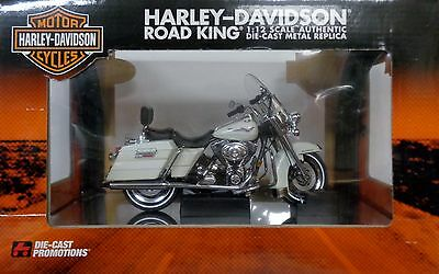 Harley-Davidson Motor Cycles Authentic Die-Cast LG Replica 1:12 Road King Bike