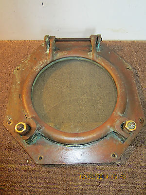 Maritime Salvaged Large Heavy Bronze Porthole