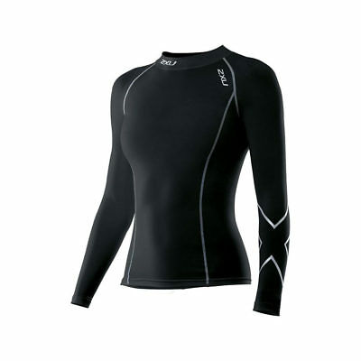 2XU Women's L/S Compression Top Large Black
