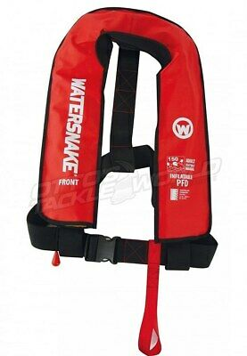 Life Jacket Watersnake Inflatable PFD Level 150/150N Manual Adult - Red @ Otto's