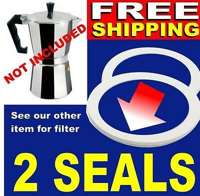 3 Cup Gasket Filter Set Silicone SEALS Moka Express Coffee & Bialetti
