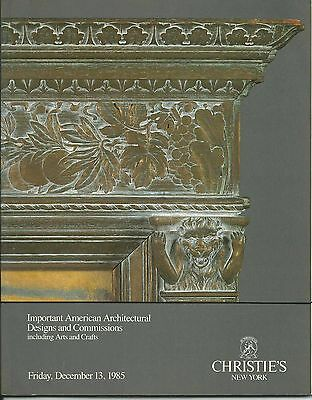 CHRISTIES ARCHITECTURE DESIGNS ARTS CRAFTS Grueby Ohr Stickley Wright Catalog 85
