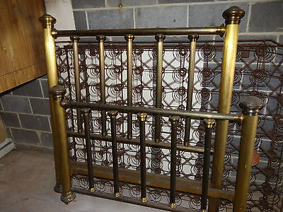 Brass Bed, Vintage, The Simmons Manufacturing CO, Kenosha 1910, Full Size Bed