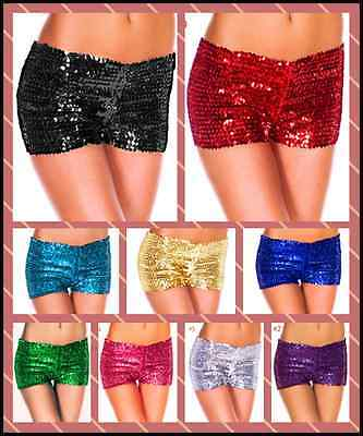 Popular  Hot Bling Dancer Glittering Metallic Sequined pants  Mini Shorts