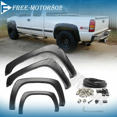 Pocket Style Fender Flares Offroad 4X4 fits 99-06 Chevy Silverado 1500 2500 3500