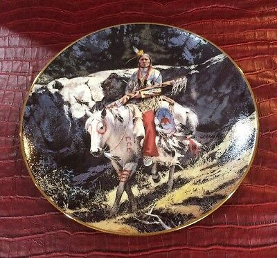 Reverent Trail Footsteps Of Brave Harry Schaare Indian Horse Collector Plate