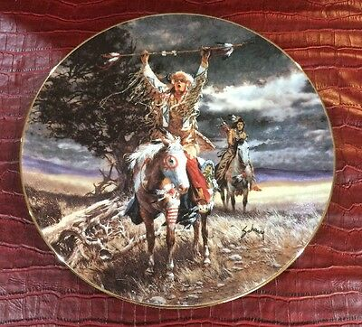 Horizons Destiny Footsteps Of Brave Harry Schaare Indian Horse Collector Plate