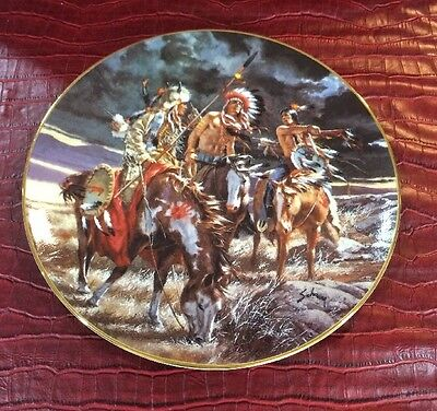 Boundless Vision Footsteps Of Brave Harry Schaare Indian Horse Collector Plate
