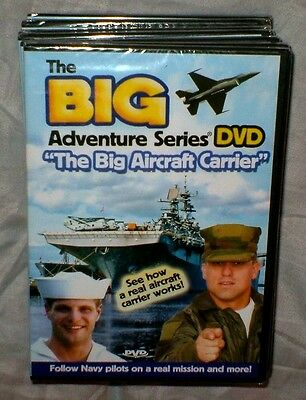"""LOT OF 7  NEW The Big Adventure Series  """"The Big Aircraft Carrier"""" (DVD 2007)"""