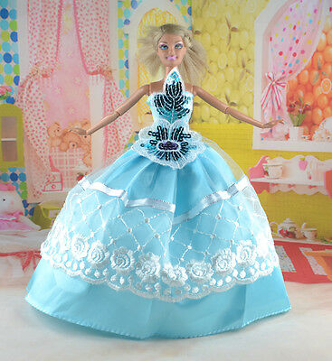 hot New Handmade Party Clothes Fashion Dress for Noble Doll *y72