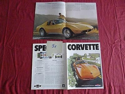 31  /   CHEVROLET Corvette catalogue english text  september 1973
