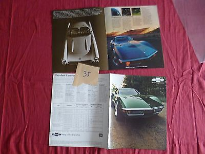 35  /   CHEVROLET :   catalogues  Corvette 1971  stingray coupé/convertible