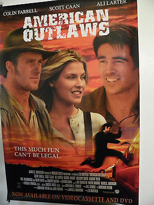 American Outlaws Original Poster 27X40 Video 2001 rolled Near mint