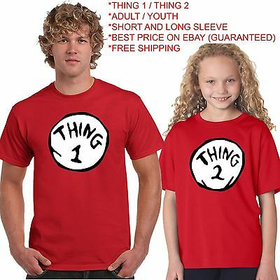 Thing 1 Thing 2 T Shirt All Sizes On Sale