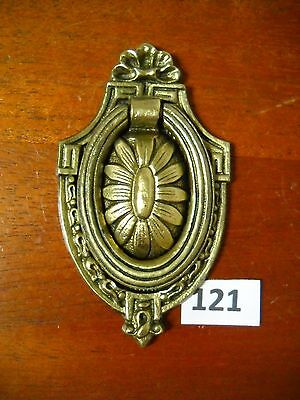 Antique Brass Ring Drawer Pull Single Screw.
