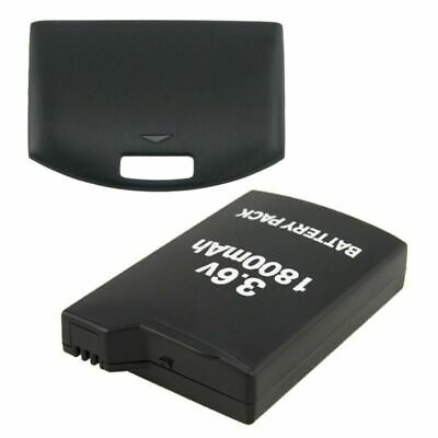 1800mAh Rechargeale Battery Pack+Back Cover Case for Sony PSP 1000 1001