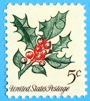 US United States 1964 5c Holly Stamp US1254