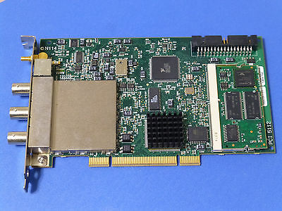 National Instruments PCI-5112 Digitizer Card, NI DAQ Scope, 100MHz 100MS/sec
