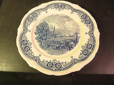 "Grindley Salisbury Cathedral After Constable Blue & White 10"" Plate"