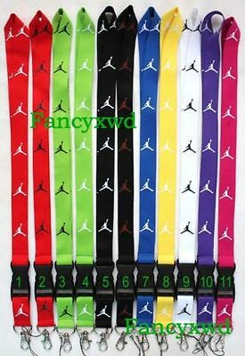 Wholesale 120 pcs Sport Jumpman logo neck keychain lanyard mobile phone straps