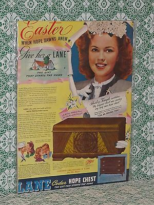 RARE Shirley Temple Advertisement Easter Lane Cedar Hope Chest Mint!