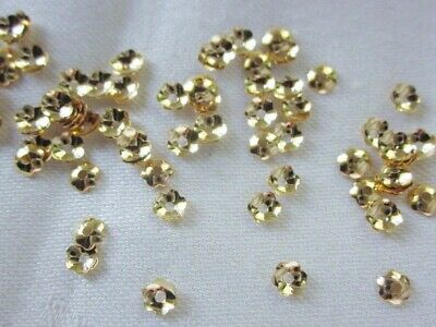 50 Gold Colour 4mm Scalloped Brass Bead Caps #bc2091