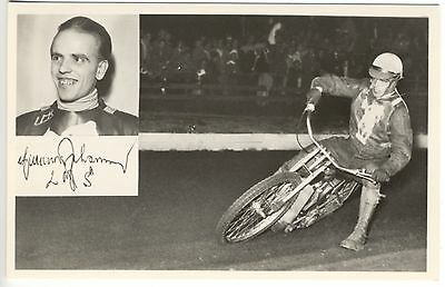 Motorcycle Famous Rider L. M. S. Racing RPPC Real Photo Postcard