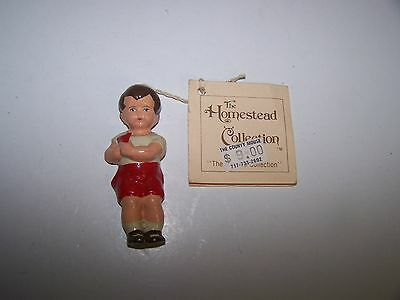 VINTAGE IKE AND SANDY SPILLMAN THE HOMESTEAD COLLECTION1985 ADAM WOOD? ORNAMENT