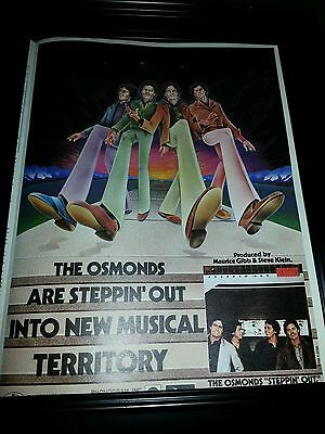 The Osmonds Steppin' Out Rare Original Promo Poster Ad Framed!