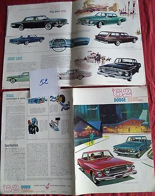 52  / catalogue DODGE 62 DART LANCER