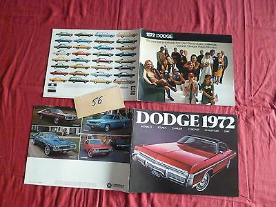 56  / 2  catalogues  DODGE   gamme 1972 english text