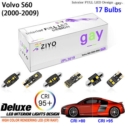 17 Bulbs Xenon White LED Interior Light Kit For Volvo S60 Sedan 2000-2009