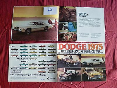 61  / DODGE :  catalogue english text gamme 1975