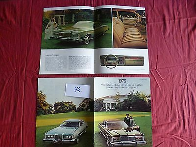 72 / LINCOLN MERCURY catalogue gamme 1975 englsih text