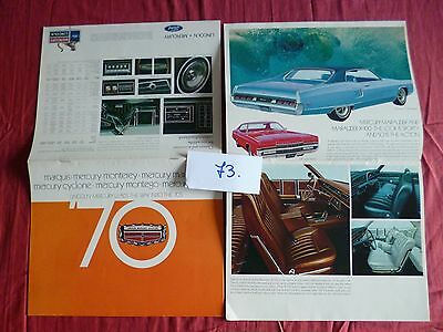 73 / LINCOLN MERCURY catalogue gamme 1970 english text USA