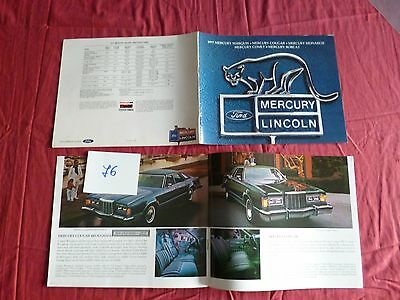 76 / FORD MERCURY LINCOLN  catalogue gamme 1977   english text