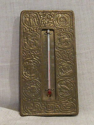 Tiffany Zodiac Bronze Thermometer # 1014