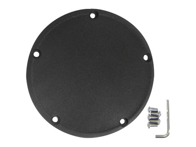 Drag Specialties Black Wrinkle Finish 5 Hole Derby Cover 99-18 Harley Twin Cam