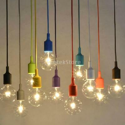 6 Colors E27 Ceiling Rose Pendant Lamp Light Bulb Holder for Home Office Cable