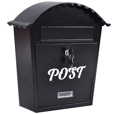 Exlarge Lockable Mailbox Post Letter Box Newspaper Holder Stainless Wall Mounted