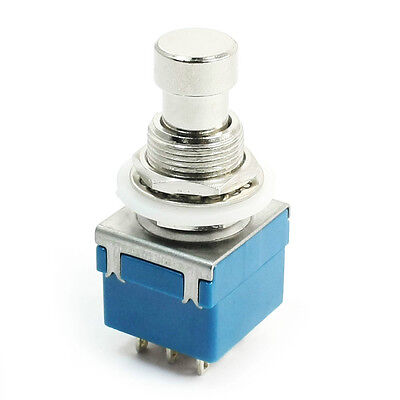 NEW 3PDT 9-Pin Push Button Foot Switch True Bypass On-On High Quality USA SELLER