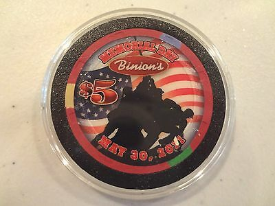 BINION'S LAS VEGAS MEMORIAL DAY 2011 $5 CASINO CHIP
